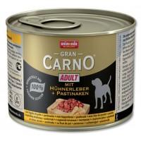 کنسرو جگر مرغ و هویج مخصوص سگ بالغ/ 200 گرمی/ Animonda GranCarno chicken livers and parsnip