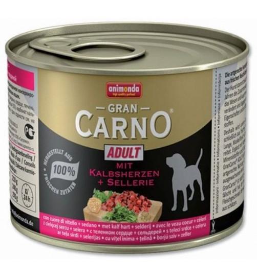 کنسرو گوشت گوساله و کرفس مخصوص سگ بالغ/ 200 گرمی/ Animonda  GranCarno calf heart and celery
