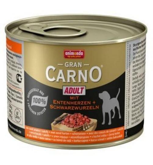 کنسرو گوشت اردک و جینسینگ مخصوص سگ بالغ/ 200 گرمی/ Animonda Gran Carno with duck heart plus salsify