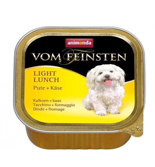 خوراک فشرده (پاته) بوقلمون + پنیر مخصوص سگ های بالغ چاق و یا کم تحرک/ 150 گرم/ Animonda Vom Feinsten Turkey + cheese