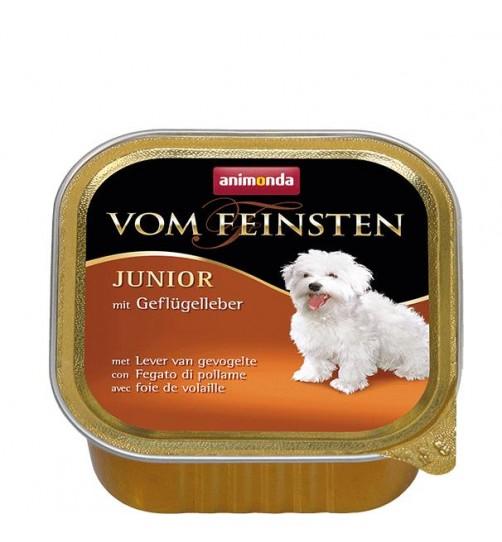 خوراک فشرده (پاته) جگر ماکیان مخصوص توله سگ/ 150 گرم/ Animonda Vom Feinsten Junior