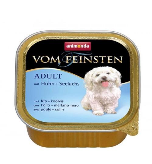 خوراک فشرده مرغ + ماهی پولاک مخصوص سگ بالغ/ 150 گرم/ Animonda Vom Feinsten with Chicken + pollack