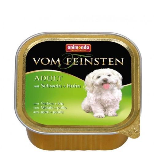 خوراک فشرده بیکن + مرغ مخصوص سگ بالغ/ 150 گرم/ Animonda Vom Feinsten with pork + chicken