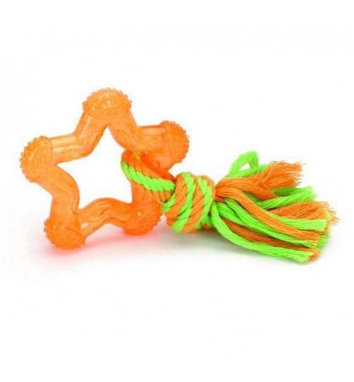 اسباب بازی دندانی توله سگ- ستاره طناب دار