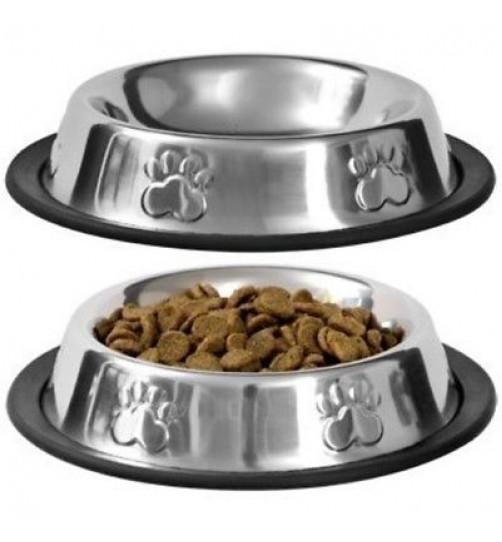 ظرف استیل سگ و گربه با طرح پنجه برجسته/ 0.3 لینر