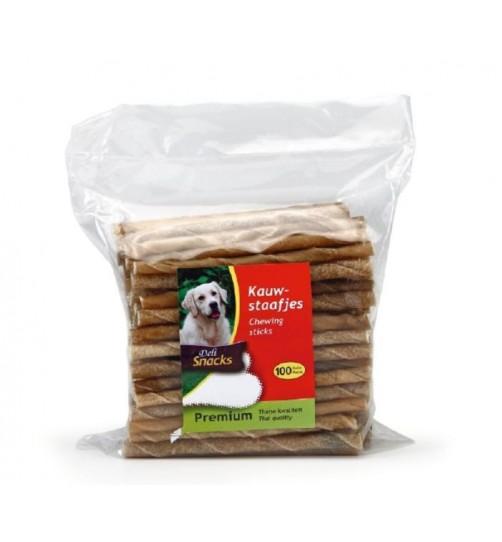 تشویقی میله ای ژلاتینی مخصوص سگ/ 100 عدد 12 سانتی/ Deli Snacks chewing sticks