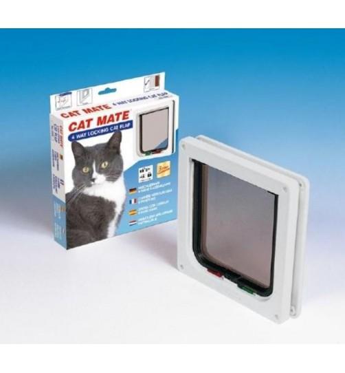 درب تردد گربه با قفل 4 حالته/ Cat Mate cat door with four way lock