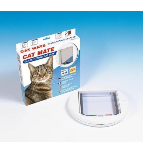 درب تردد گرد گربه با قفل 4 حالته / Cat Mate cat door with four way lock, round