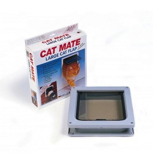 درب تردد گربه و سگ با قفل 4 حالته/ Cat Mate cat door