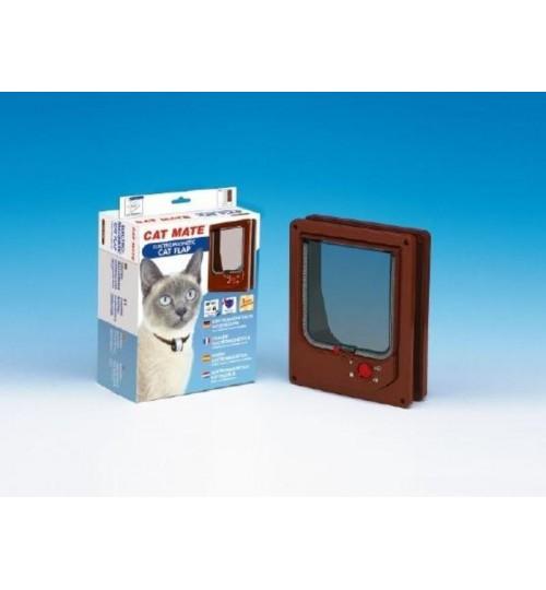 درب تردد الکترومعناطیسی گربه با قفل 4 حالته/ Cat Mate electromagnetic cat door with 4 way lock