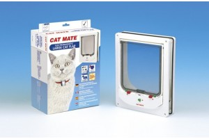 درب تردد الکترومغناطیسی گربه و سگ با قفل 4 حالته/ Cat Mate electromagnetic cat door