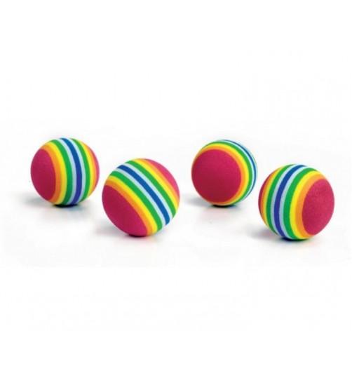 توپ های اسباب بازی نرم رنگارنگ گربه/ 4 عددی