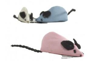 موش اسباب بازی رنگی گربه حاوی کت نیپ/ 7.5 سانتی