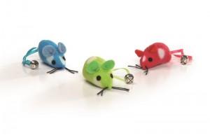 موش اسباب بازی زنگوله دار گربه/ بسته 3 عددی