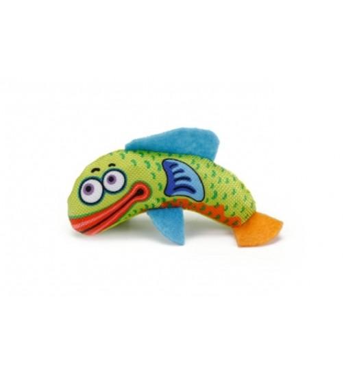 اسباب بازی ماهی پارچه ای گربه / 10 سانتی