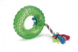 اسباب بازی تایر طناب دار مخصوص سگ/ 15 سانتی
