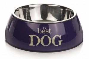 ظرف استیل Best Dog با بدنه ملامین/ 700 میلی لیتر