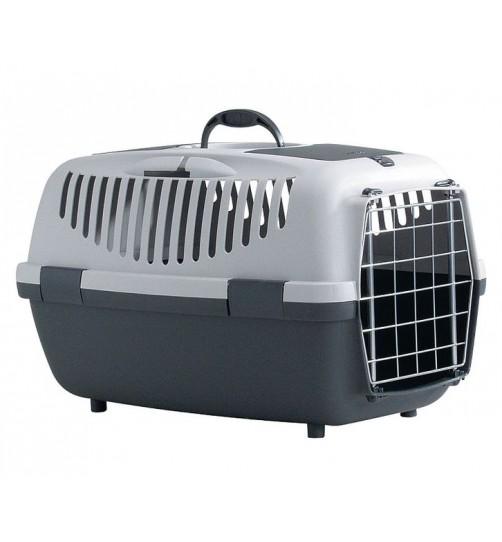 باکس حمل  Gulliver 2  با  درب فلزی مخصوص سگ و گربه/ طوسی