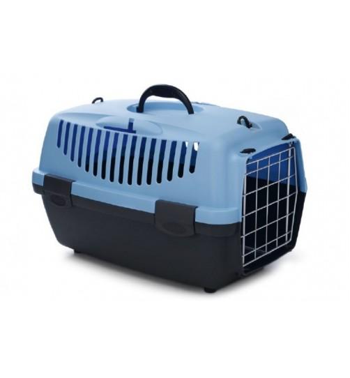 باکس حمل  Gulliver 1 با درب فلزی مخصوص سگ و گربه/ آبی-طوسی