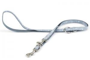 بند قلاده 2 قلابه/  training leash Bones/ آبی با طرح استخوان