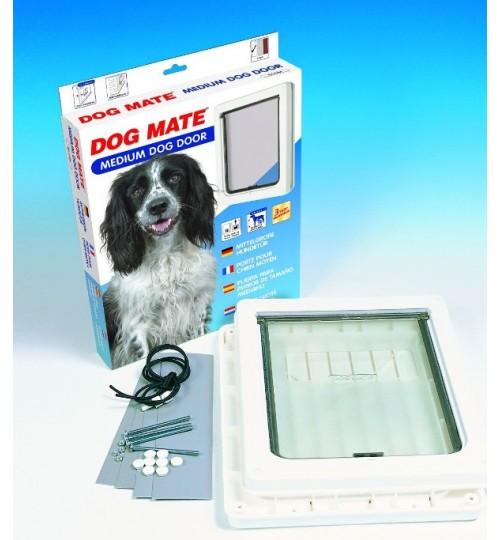 درب تردد سگ با قفل 2 حالته/ سایز متوسط/ Dog Mate dog door