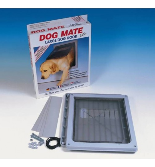 درب تردد سگ با قفل 2 حالته/ سایز بزرگ/ Dog Mate dog door