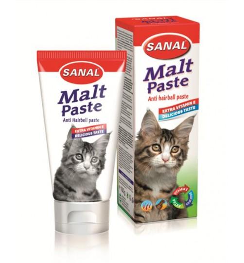 خمیر مالت گربه Sanal + ویتامین E/ دفع کننده  هربال/ 100 گرم