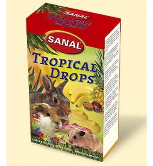 اسنک ویتامینه جوندگان/ مخلوط 3 طعم و میوه های گرمسیری/ Sanal tropical drops