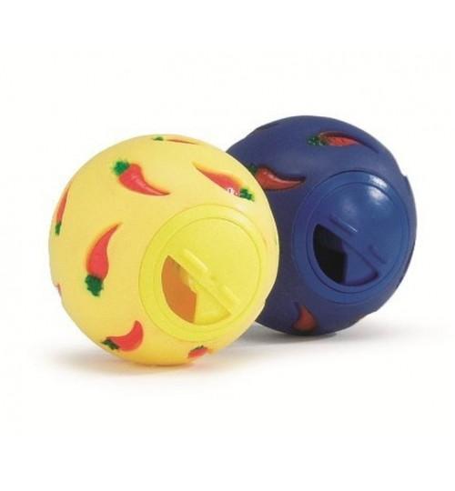 توپ تشویقی جوندگان با دریچه قابل تنظیم/ 8 سانتی/ Treatball
