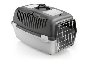 باکس حمل  Gulliver 3 با درب فلزی مخصوص سگ و گربه/ طوسی