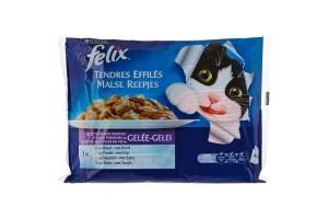 پوچ گربه felix tendres effilés در 4 طعم مختلف - بسته 4 تایی