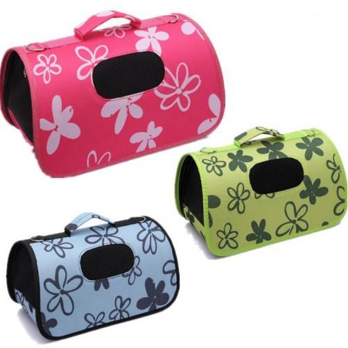 کیف حمل سگ و گربه طرح Flower