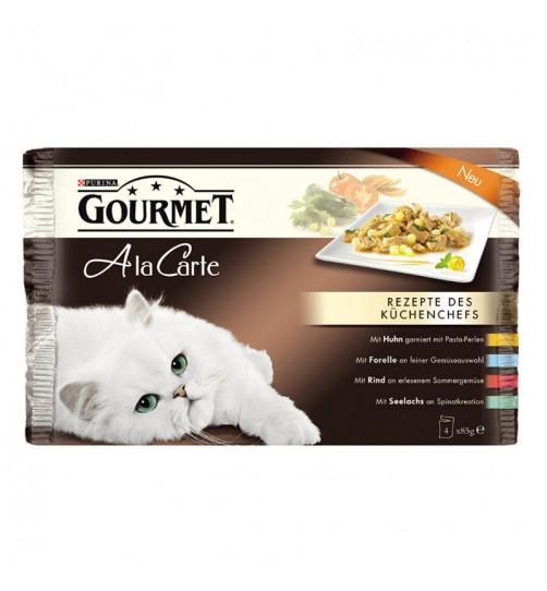 پوچ گربه گورمه Ala Carte در 4 طعم مختلف/ بسته 4 عددی