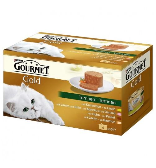 کنسرو گورمه گلد (نوار سبز)/ 4 عدد 85 گرمی/  Gourmet Gold Terrine- Pate
