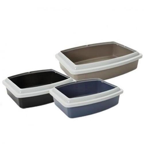 ظرف خاک گربه لبه دار/ Tray + rim oval jumbo/ سایز XL